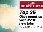 Here are the 25 counties in Ohio with the best job growth