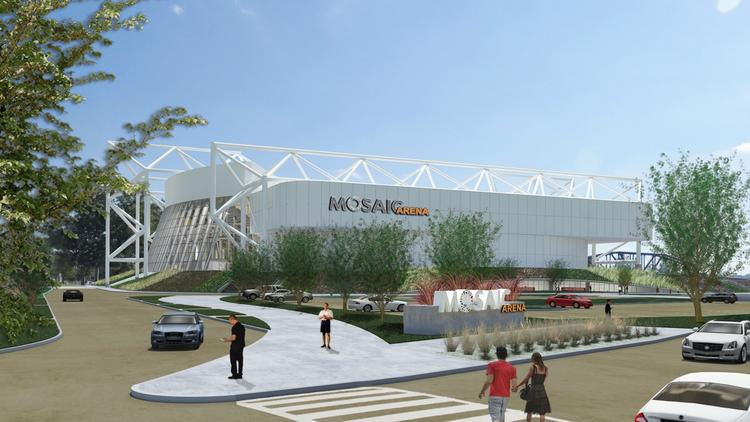 Foutch Brothers LLC, the developer and architect for Mosaic Arena, provided this rendering of the completed transformation of Kemper Arena.