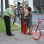 Honolulu office complex installs unique bike repair station