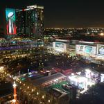 Almost all the signage you'll see at the Super Bowl in Houston is from Arizona