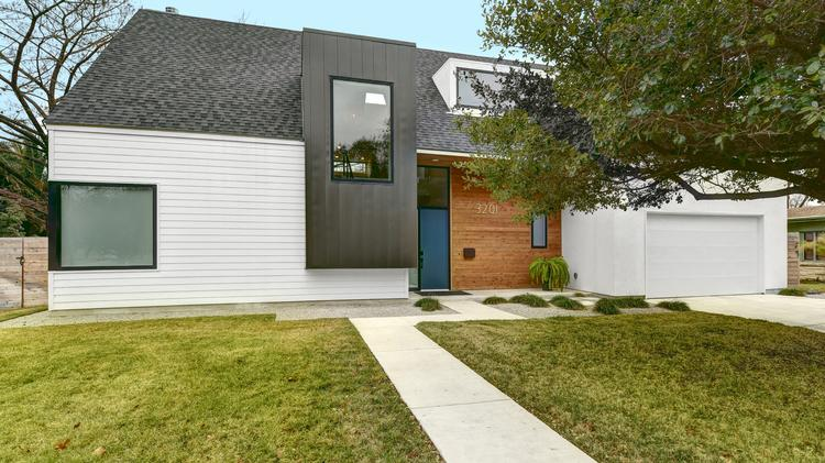 an intriguing geometrical composition defines the exterior of this house at 3201 sunny lane near mopac - Modern Homes Tour