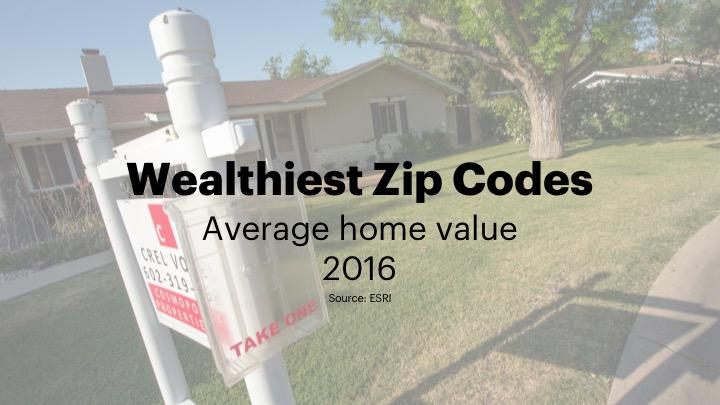 Where the wealthy live: Average home values are climbing again