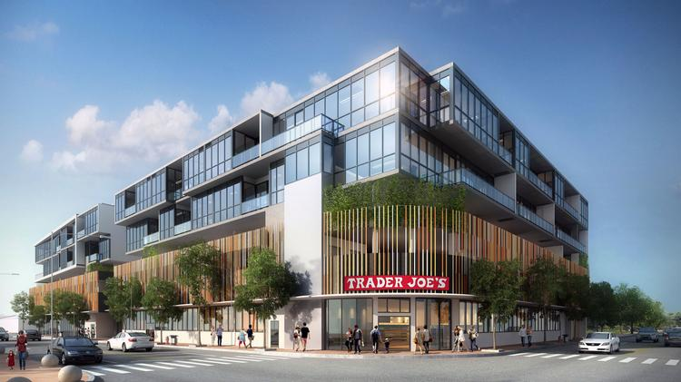 A Preliminary Rendering Of The Trader Joe S Planned In 17 West Mixed Use Project