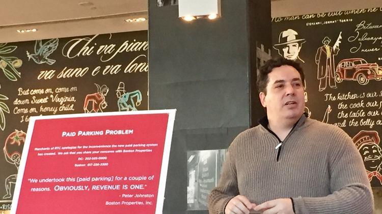 Red Velvet Cupcakery owner Aaron Gordon is organizing merchants in pushing back against Boston Properties.
