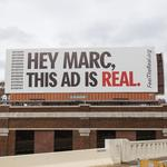 P&G's top ad man target of billboard campaign outside HQ