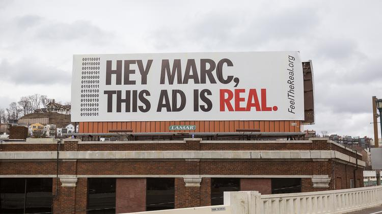 Procter & Gamble Co.'s top ad man, Marc Pritchard, witnessed the impact of direct marketing on billboards outside P&G's headquarters in Cincinnati.