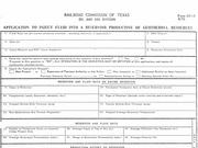 Although the forms are decades old, the Railroad Commission of Texas has forms on its website for geothermal projects.