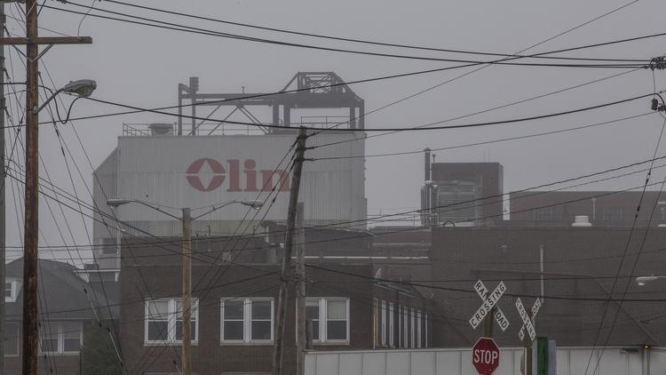 Olin Corp. laid off 180 employees last year at its ammunition facility in East Alton, Illinois.