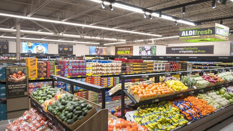 The produce department Aldi. The German discount grocer is expanding produce departments in stores nationwide.