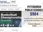 What residents of Allegheny County school districts are paying in property taxes