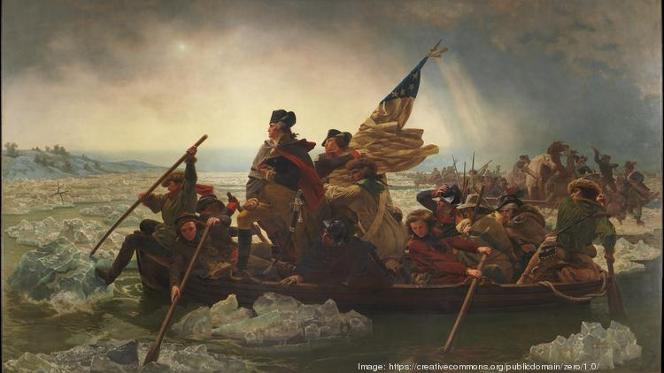 Washington Crossing the Delaware (1851) Artist: Emanuel Leutze (American, Schwäbisch Gmünd 1816–1868 Washington, D.C.) Date: 1851 Medium: Oil on canvas Dimensions: 149 x 255 in. (378.5 x 647.7 cm) Classification: Paintings Credit Line: Gift of John Stewart Kennedy, 1897