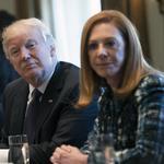 Schnitzer Steel's Tamara Lundgren visits with Trump at women's entrepreneur event
