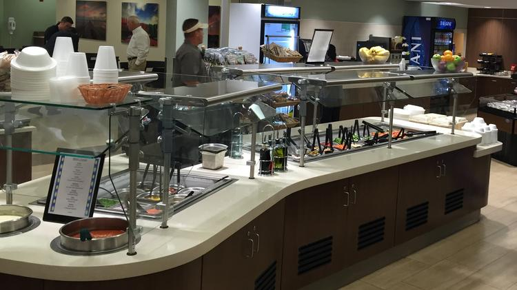 An $8 million renovation at Mease Dunedin Hospital included a revamp of the cafeteria/dining area. It includes the latest kitchen equipment, new tray line and new dining area updated with bright new finishes.