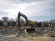 The site of the former Phoenix Hill Tavern has been cleared to make way for the new apartments.