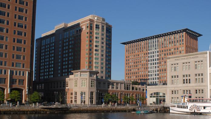 The 428-key Seaport Hotel is located at 1 Seaport Lane in Boston.