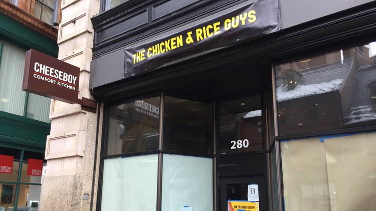 Chicken & Rice Guys will open its fourth bricks-and-mortar restaurant in a former Cheeseboy franchise location at 280 Washington St. in Boston's Downtown Crossing.