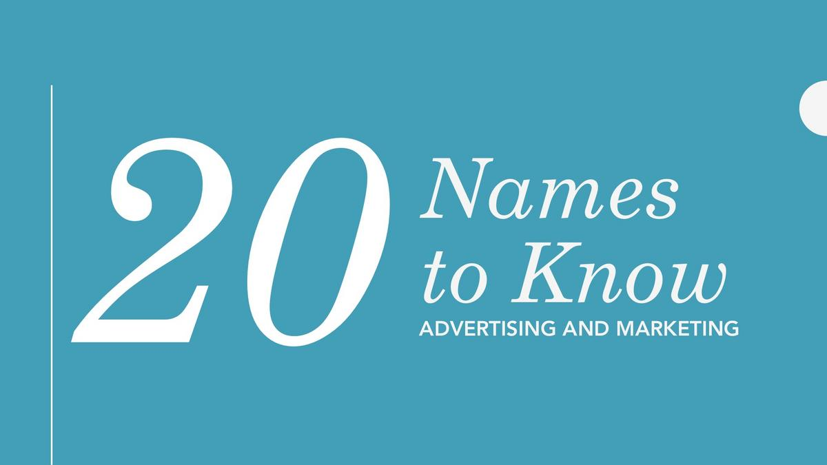 20 Names to Know: Advertising and Marketing - Phoenix Business Journal