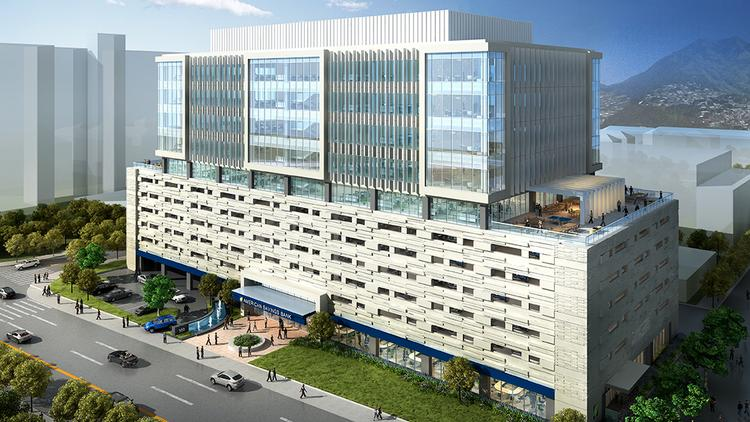 This rendering shows the exterior of American Savings Bank's new Honolulu headquarters