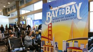 From Tampa Bay to the City by the Bay: United's inaugural nonstop flight takes off (Photos)