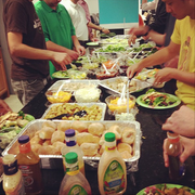 No. 1 (Companies 2-99): Audax Health Inc. in D.C. caters healthy lunches for employees Monday through Thursday, by B.Lin Catering.