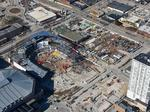 Exclusive: See latest progress of Milwaukee Bucks' new arena from the air