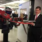 Robots upstaged the humans at MassRobotics' workspace opening