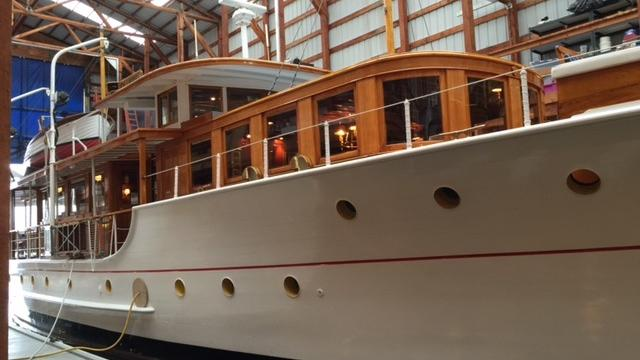 Historic luxury yacht Olympus leaving Seattle after almost