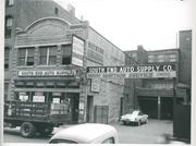 156-164 Dover Street - South End Auto Supply Company (Berman) Date: 1953 August 14 Citation: Urban Redevelopment Division, Boston Housing Authority photographs, New York Streets Urban Renewal project