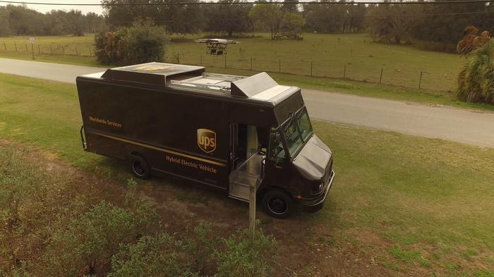 UPS announced it tested successfully a drone that launches from the top of a UPS package car, autonomously delivers a package to a home and then returns to the vehicle while the delivery driver continues along the route to make a separate delivery.
