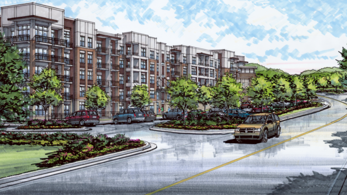 Mosby Cool Springs, consisting of 328 apartments and 31 for-sale town homes, is set for construction at 1222 Liberty Pike. Virginia-based Middleburg Real Estate Partners paid $9 million to buy that site in February 2017.