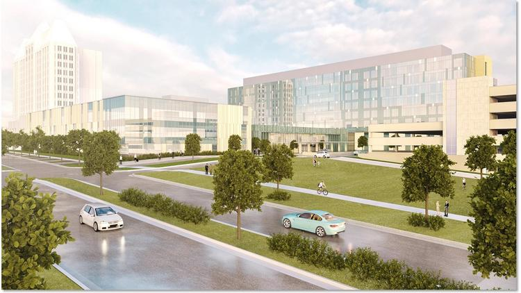 The $550 million SSM Health Saint Louis University Hospital features more than 800,000 square feet of space.