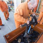 Behind the Scenes: Inmates work on framing to build careers in building trades