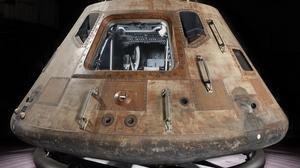 Jeff Bezos helps Apollo 11 command module Columbia land in Seattle in 2019