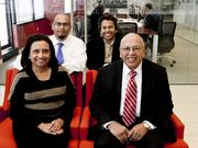 Setty & Associates' family leadership includes parents Bharathi and Boggarm Setty and their sons, from left, Raj and Rohit.