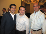 From left, Juan Jorquera and Ryan Ostendorf, both of Vagabond Vending, and Bob Nelson of CrossMine.