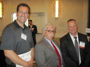 From left, Zvi Huber of Apio Systems, Alan Luba of Human Resources Consultants and Tzur Keren of Otipo.