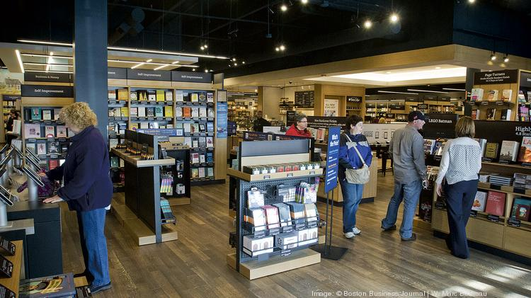 Opening day for Amazon Books at Legacy Place in Dedham, Mass.