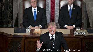 How would you grade President Trump's first speech to Congress?