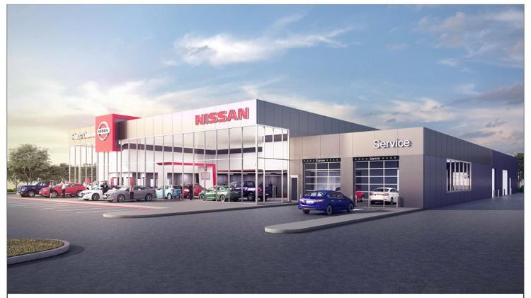 A Rendering Of The Nissan Dealership Planned For 2675 W. Washington St. In  West