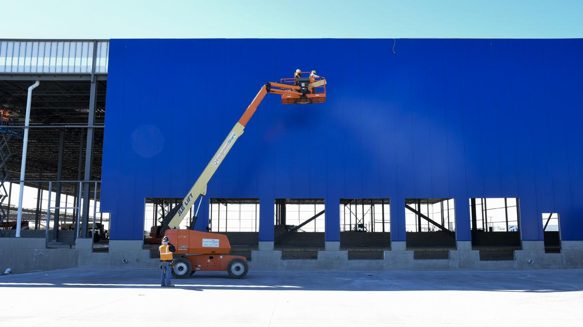 Get a sneak peek of the construction of ikea 39 s grand for Ikea in dallas