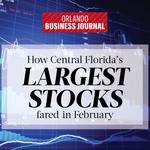 How Central Florida's largest stocks fared in February (Rankings)