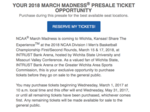 Wichita groups extended presale ticket option for 2018 NCAA Tournament