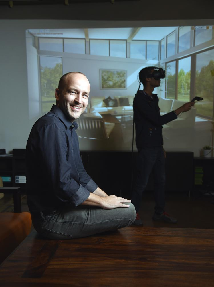 Chad Eikhoff, founder of Trick 3D, whose tool Floorplan Revolution helps developers take renderings to the next level using VR.