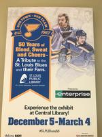 Inside the St. Louis Blues exhibit at the Central Library