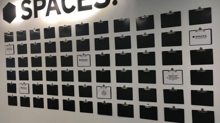 First look spaces at bakery square 20 pittsburgh business times a wall of clipboards greets you when you first enter spaces the new coworking operation m4hsunfo