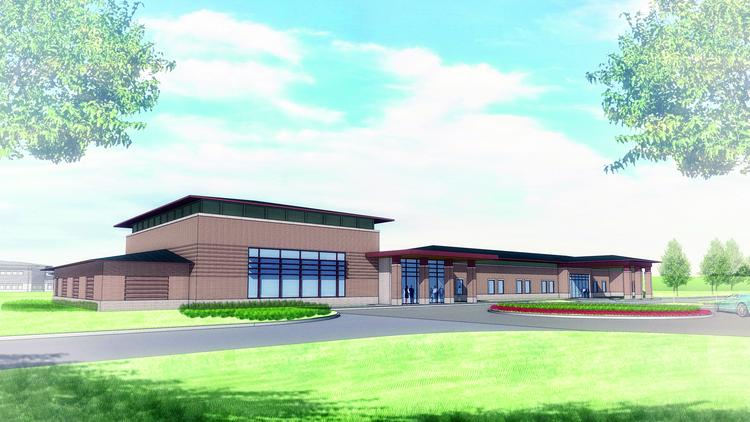 Front Elevation Hospital : Menninger clinic to add outpatient and education building