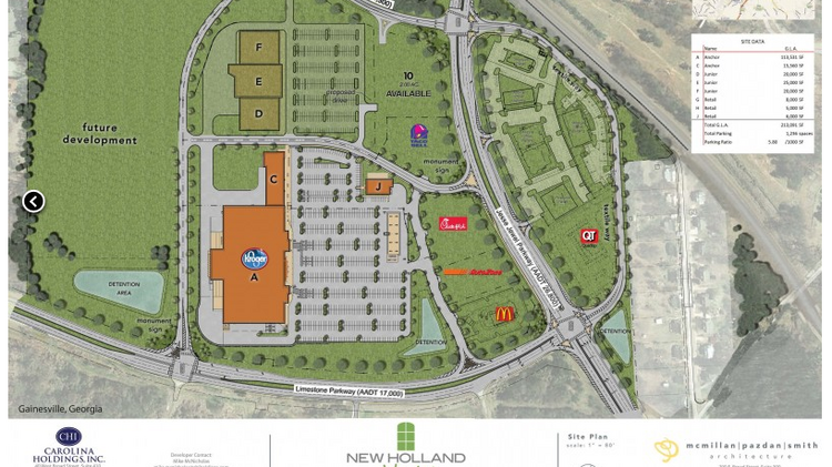 new holland market gainesville ga site plan - Hilton Garden Inn Gainesville Ga