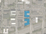 A map of the proposed apartment complex at Nicollet and 15th Street.