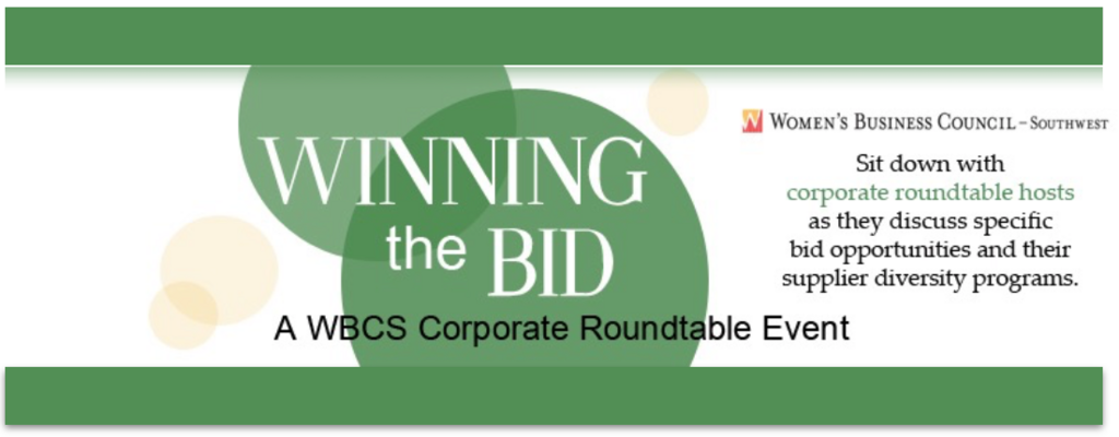 Winning the Bid: A WBCS Corporate Roundtable Event
