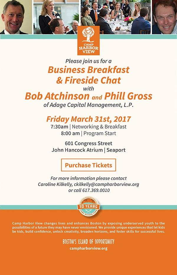Camp Harbor View Business Breakfast & Fireside Chat